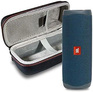 JBL Flip 5 Waterproof Portable Wireless Bluetooth Speaker Bundle with Hardshell Protective Case - Blue