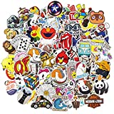 Cool Brand Stickers, 200pcs Mixed Waterproof Vinyl Stickers for Water Bottles Laptop Stickers Cars Motorbikes Bicycle Skateboard Stickers Luggage Phone Graffiti Decals Computer Stickers for Teens