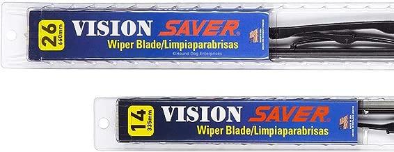 Vision Saver - Windshield Wiper Blade Bundle - 3 Items: Driver & Passenger Blades & Reminder Sticker fits 2012 Nissan Versa (Hatchback)