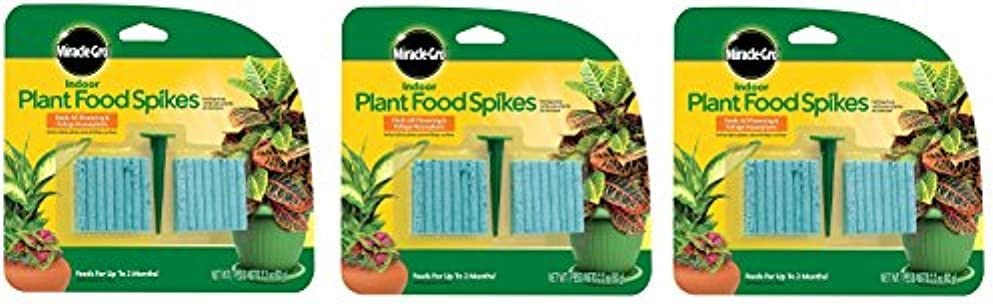 Miracle-GRO Indoor Super popular specialty store Plant Food 48-Spikes 3-Pack Popular standard Count 48
