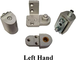 YKK Style Storefront Door Pivot Hinge Set in Aluminum - Choose Handing (Left Hand)