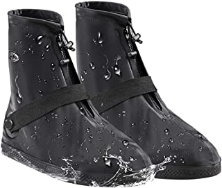 AMZQJD Reusable Waterproof Rain Shoe Boot Covers for Women Men