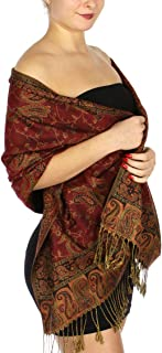 Pashmina Scarf for Women Large Cashmere feel Reversible Shawl Wraps, Soft Scarves Travel Accessories