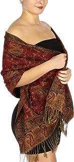 وشاح باشمينا للنساء كبير الحجم بملمس الكشمير أغطية شال قابلة للعكس، أوشحة ناعمة إكسسوارات السفر