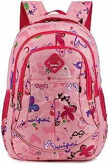 Tofern - Mochila escolar, diseño ergonómico, antigolpes, portátil, tablet, niño, niño, niño, mochila de viaje, ocio, color rosa