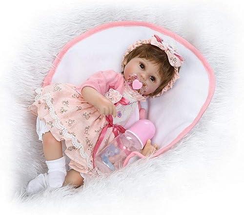 CHENG Reborn Baby Dolls Acryl Augen Realistisch Aussehende 40Cm Sü Puppen Mit Tuch