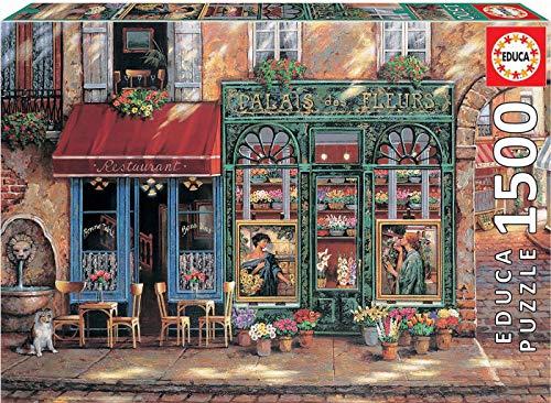 Educa Borras - Genuine Puzzles, Puzzle 1.500 piezas, Palais des fleurs (18004)