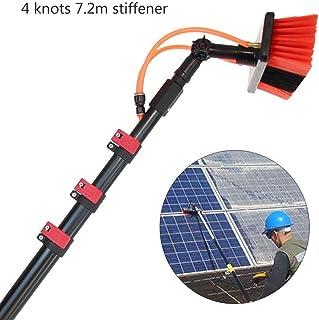 太陽光発電クリーナーウィンドウクリーニングブラシテレスコピックマルチアングルコンサバトリールーフカー水供給洗浄ブラシ拡張可能クリーナー,7.2m