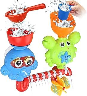 اسباب بازی های کودکان و نوجوانان GOODLOGO اسباب بازی های وان حمام اسباب بازی ها برای 1 2 3 بچه ها بچه های قدیمی بچه ها حمام دیوار اسباب بازی آبشار پر کردن چرخش و جریان غیر سمی ایده های هدیه تولد جعبه رنگ