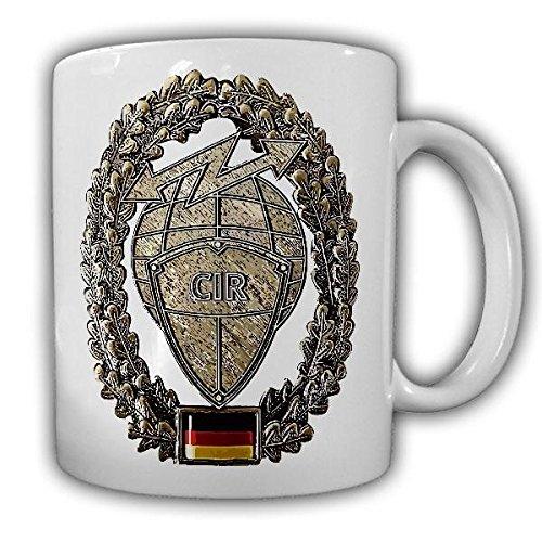 Tasse Barettabzeichen CIR Cyber und Inormationsraum Bundeswehr BW Emblem Deutschland#22124