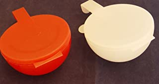 Tupperware FORGET ME NOT SET of 2 Tomato ONION Keeper