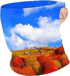 nobrand Landscape Painting Showing Forest On Gloomy Autumn Day Face Mask UV Sun Mask Dust Wind Neck Gaiter Magic Bandana for Women Men