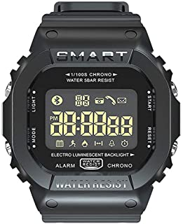 Aptitud Actividad Tracker Con Luz De Fondo De Almacenamiento De Datos, Reloj De Los Deportes De Bluetooth Inteligente Impermeable De Los Hombres Con El Podómetro Llamada De Recordatorio Reloj,Negro