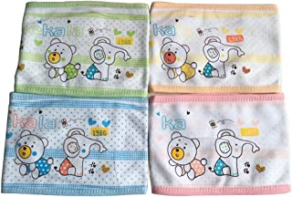 Trycooling 4PCS Cotton Baby Infant Umbilical Cord Belly Band Cartoon Soft Newborn Navel Belt (Random Style)