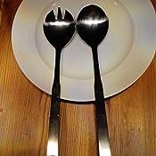 Besteck 2 ST/ÜCKE Salatbesteck Gabel Und L/öffel K/üchenutensilien Hotel Liefert Edelstahl Geschirr Geschirr Besteck Restaurant