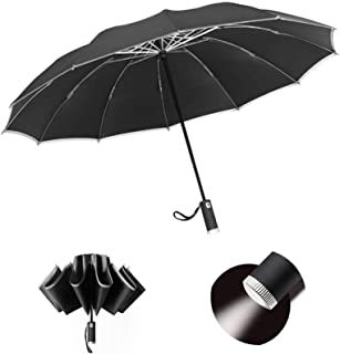 10 Ribs Men Rainproof Automatic Opening and Closing,Northern Rainbow in Skaftafell Iceland,Windproof RLDSESS Northern Travel Folding Umbrella 42 Inches Ladies