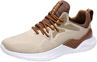 Waymine Mens Athletic Sneakers Breathable Air Mesh Running Outdoor Round Toe Leisure Sport Shoes Basketball Shoes
