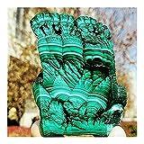 Artesanía de Piedra Cristales Naturales Cuarzo Malaquita Malachite Freefrom Energy Reiki Sala de Piedra Oficina de la casa Aquarium Decoración Accesorios Piedra preciose (Size : 650-700g)