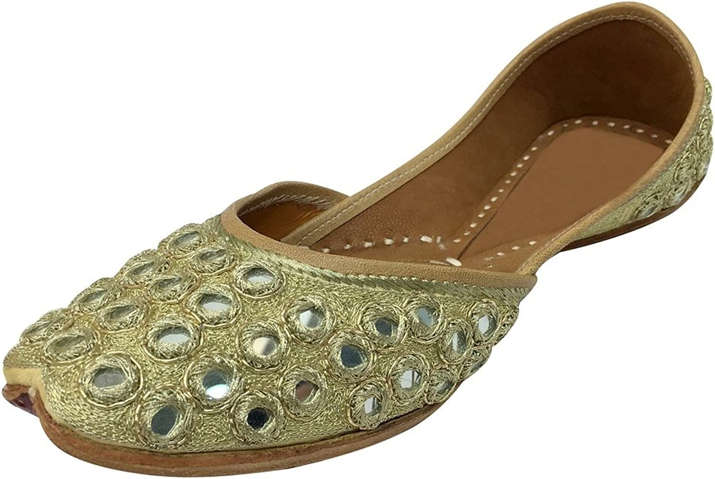 Step n Style Indian Women shoes Slipper Handmade Flipflops Traditional Leather Juti DD1000 gold