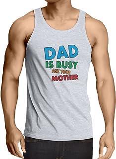 lepni.me 男性用ベスト お父さんは忙しいですお母さんに聞いてください! パパの衣装、父の日ギフト