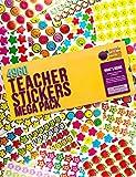 Stickers per la Scuola, Gli Insegnanti e i Bambini di Purple Ladybug - Confezione da 4960 Adesivi d'Incoraggiamento e di Ricompensa! Motivi: Smileys, Emoji, Stelle e Mele Sorridenti