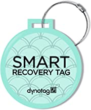 Dynotag Web Enabled Smart Deluxe Steel Luggage ID Tag & Braided Steel Loop, with DynoIQ & Lifetime Recovery Service (Turquoise)