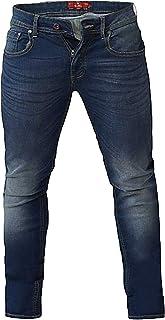 Duke London D555 Ambrose Big Tapered Stretch Jeans - Blue 42 44 46 48 50 52 54 56 58 60 62 64