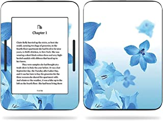 MightySkins Skin Compatible with Barnes & Noble Nook GlowLight 3 (2017) - Blue Flowers | Protective, Durable, and Unique Vinyl Decal wrap Cover | Easy to Apply, Remove | Made in The USA