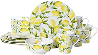 Mikasa Lemons 16-Piece Dinnerware Set, Assorted