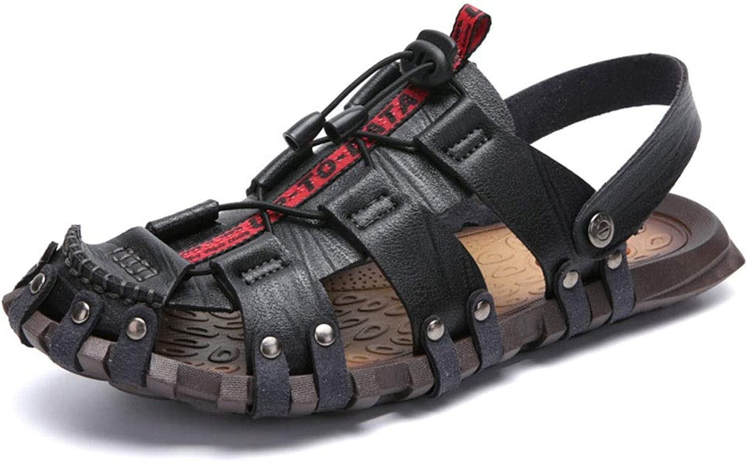 Men's Sandals, Breathable and Non-Slip, Prevent Foot Odor, Outdoor Walking shoes (color   Black, Size   38)