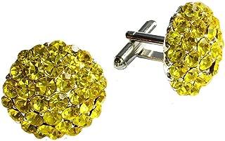 Clinks Cufflinks Mens Crystal Cluster Cufflinks - Yellow