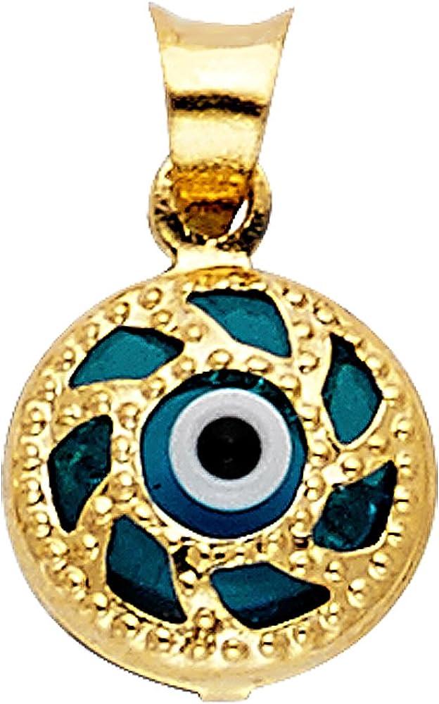 Deluxe 14k Yellow New popularity Gold Pendant Eye Evil