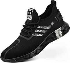 Arillwe Steel Toe Sneakers Men Women Safety Work Shoes Summer Breathable Mesh Indestructible Construction Shoes Slip Resistant Puncture Proof Industrial Footwear