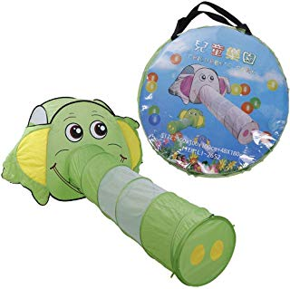 Cute Elephant Shape Kids Toy Kids Play Tent Playhouse Crawl Tunnel Tent Tunnel Indoor Outdoor Adventure Game Playhouse Tent Children Play Tent for Indoor and Outdoor Use Kids Playhouse Best Gift
