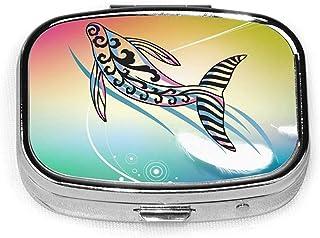 Flying Fish Fashion Square Pill Box Vitamin Organizer Case