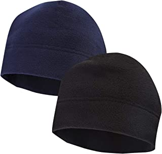 2 PCS Tactical Beanie Hat Fleece Watch Cap Microfleece Military Beanie Cap Army Fleece Cap Polar Fleece Beanie Winter Hat ...