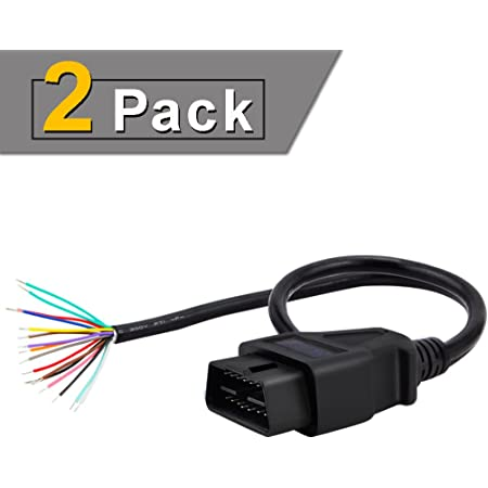 Amazon.com: iKKEGOL Pack of 2 16 Pin J1962 OBD2 OBD-II Male Connector to  Open Plug Wire, OBD Diagnostic Extension Cable Pigtail for DIY x 2 (60cm  24