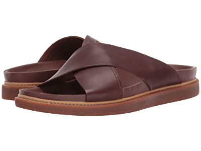 Clarks Trace Cross (Mahogany Leather) Men