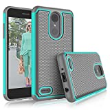 LG Aristo 2 Case, LG Tribute Dynasty/Empire/LG Aristo 3/K8 2018/Fortune 2/Zone 4 Cute Cases, Tekcoo [Tmajor] Shock Absorbing [Turquoise] Rubber Silicone Plastic Scratch Resistant Sturdy Cover