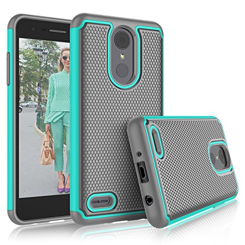 LG Aristo 2 / LG Phoenix 4 Case, LG Tribute Dynasty/Empire/Aristo 3/K8 2018/Fortune 2/Zone 4 Cases, Tekcoo [Tmajor] Shock Absorbing [Turquoise] Rubber Silicone Plastic Scratch Resistant Sturdy Cover