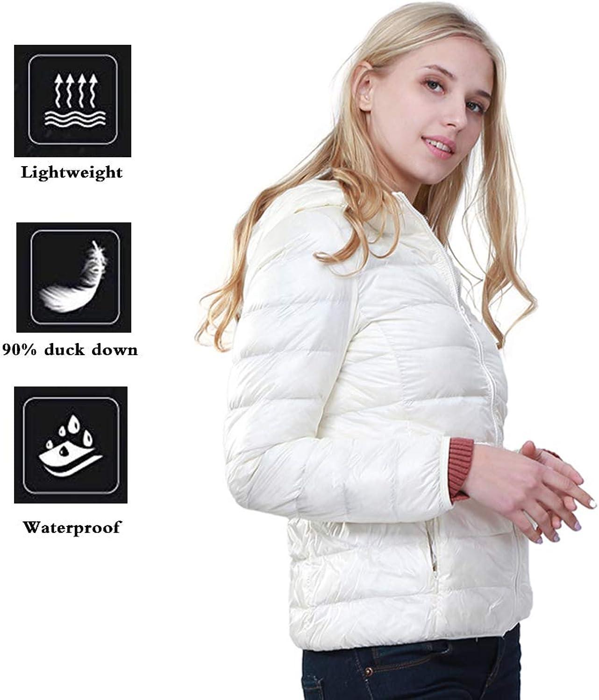 FCOZM Women Down Jacket, Packable Down Jacket Down Coats Women Outwear Parka Hood