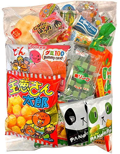 Samurai Dagashi Set, Japanese Snack Assort 25pcs, 9.75oz/276g