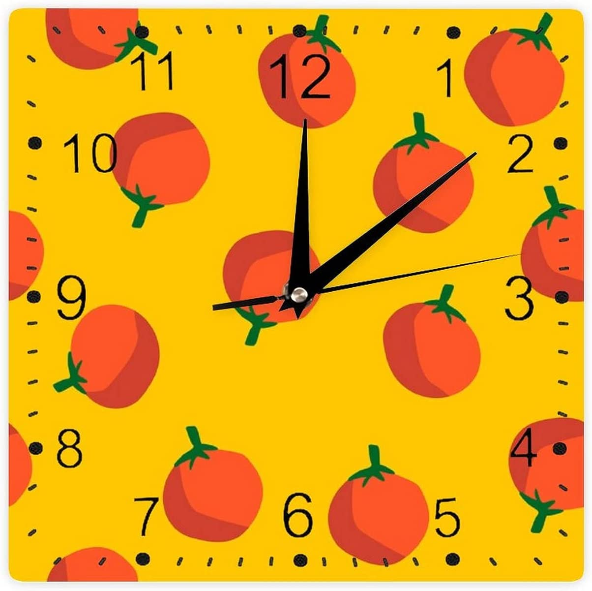 Decorative Wall Clock Oakland Mall Silent Non Yellow New mail order Seaml Oranges On Ticking