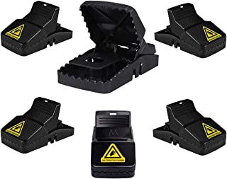 LEHOUR Mouse/Rats Trap, Mice Traps That Work, Mice Snap Trap with Bait Cup, Reusable, Effective Mouse Catcher Indoor 6 Pack