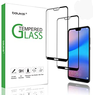 (2 Pack) Beukei for Huawei P20 Lite Screen Protector Tempered Glass, 2.5D Arc Edges 9 Hardness HD Anti-Scratch, Full-Coverage,Lifetime Replacement Warranty,for Huawei P20 Lite