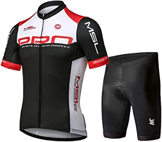 Mysenlan Men's Cycling Jersey Short Sleeve Shirts Bike Bicycle Breathable Riding Sports Jerseys Black