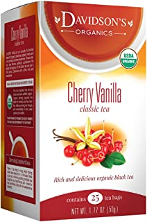 Davidson's Tea Cherry Vanilla, 25 Count Tea Bag