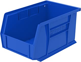 Akro-Mils 30237 AkroBins Plastic Storage Bin Hanging Stacking Containers, (9-Inch x 6-Inch x 5-Inch), Blue, (12-Pack)