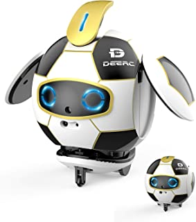 DEERC Robot Toy for Kids with Talking Singing Dancing,Interactive Deformation Soccer Robots with Repeat What You Say,Touch Sensing,Obstacle Avoidance,Learning and Educational Gifts for Boys Girls