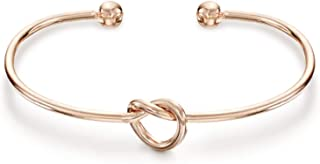 PAVOI 14K Gold Plated Adjustable Infinity Forever Love Knot Bracelet Bangle Gifts for Bridesmaids